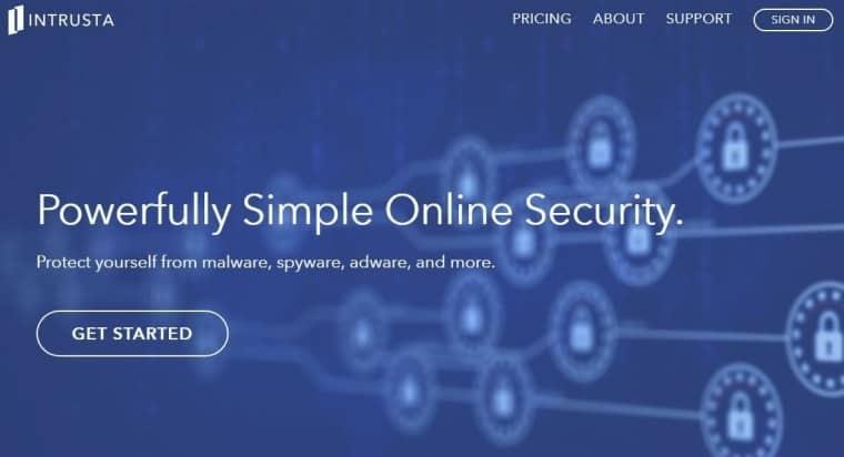 Image of Intrusta official website