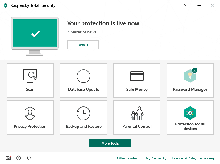 Image of Kaspersky Antivirus Software Total Security