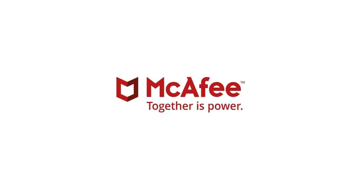 Image of McAfee Logo and Motto