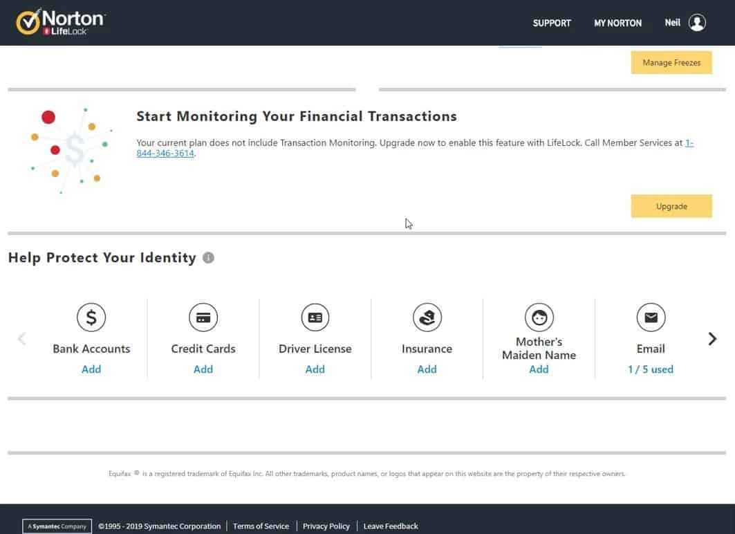 Image of Norton 360 with LifeLock identity protection