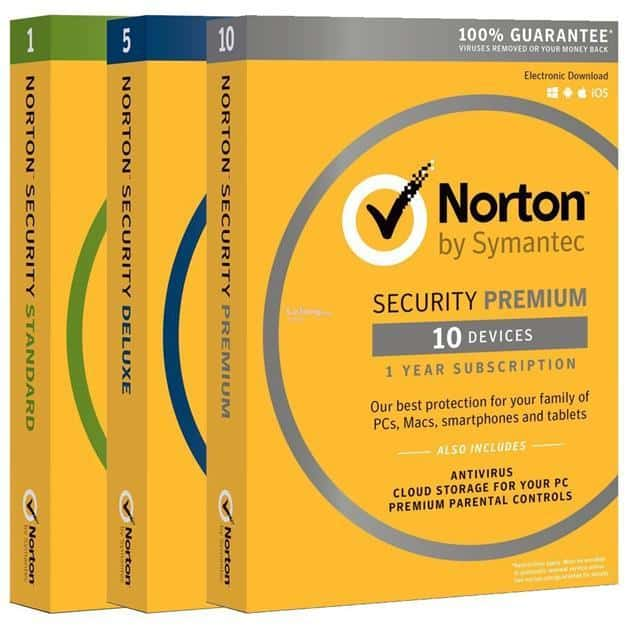 Image of Norton Antivirus Software Security Packages
