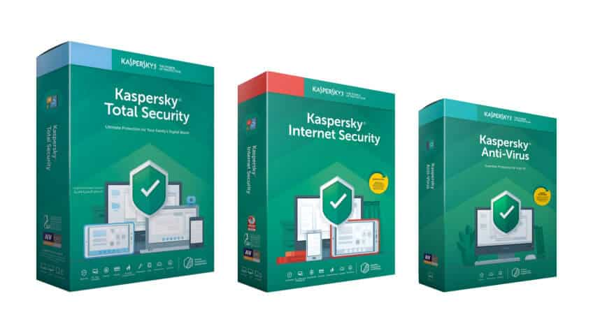 Image of Kaspersky Antivirus Software packages