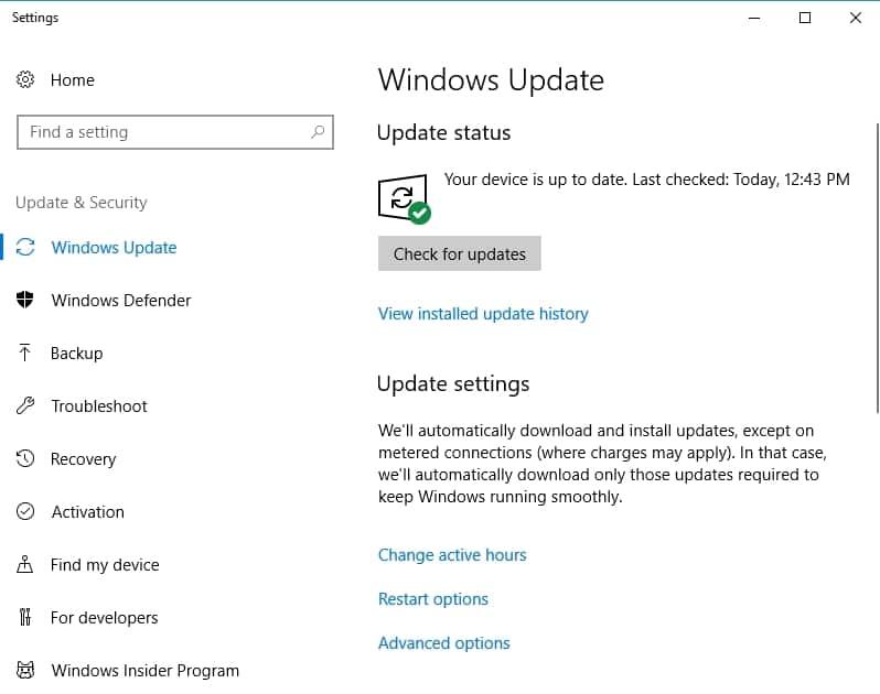 Illustration of windows update