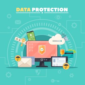 Illustration of Safety and private data protection
