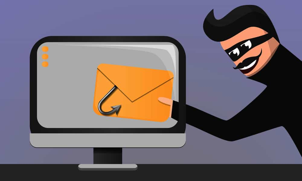Email phishing concept
