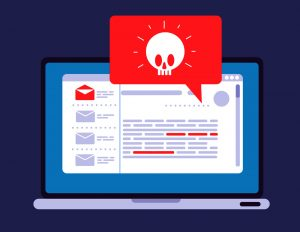 Illustration of malware trojan notification